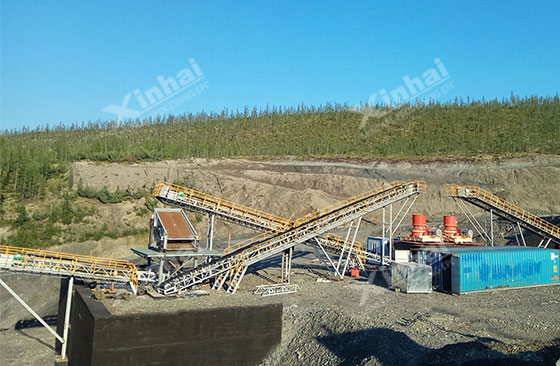 Russia 500tpd gold processing project
